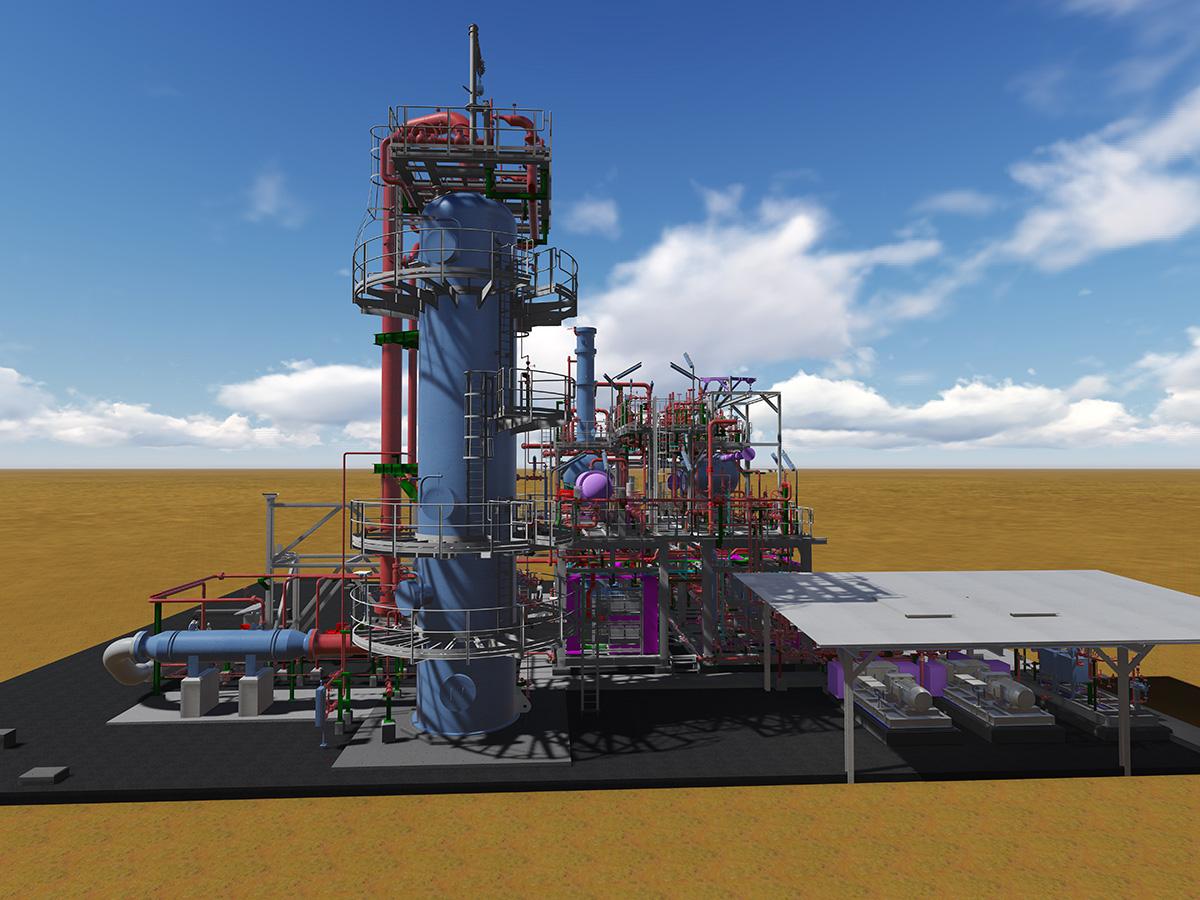 Tatweer Petroleum colonna assorbitiva ed interconnecting